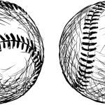 Постер, плакат: Baseball balls