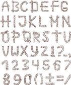 Alphabet of rope — Stockvektor