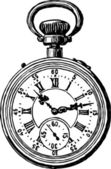 Antique pocket watch — Stock Vector