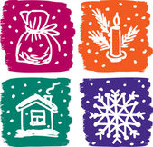 Christmas pictures set — Stock Vector