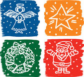 Natale immagini insieme — Vettoriale Stock