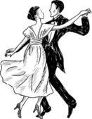 Dancing couple — Stock Vector