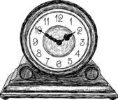 Reloj de mesa — Vector de stock