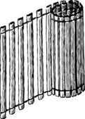 Folded mat — Stock Vector