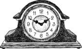 Horloge de table — Vecteur