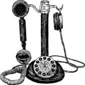 Vintage phone — Stock Vector