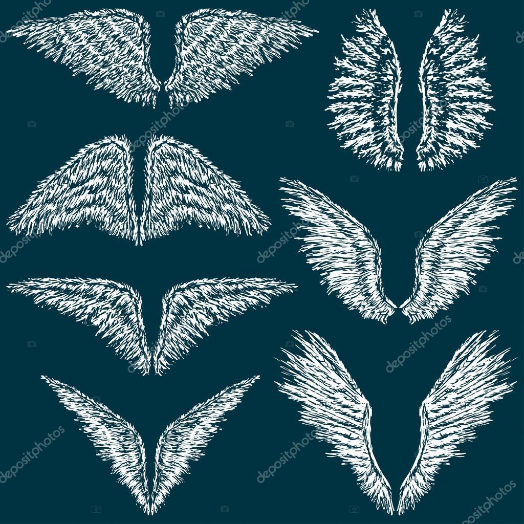 天使的翅膀 — 图库矢量图像08