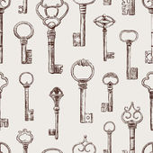 Pattern of the old keys — 图库矢量图片