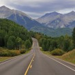 Driving into the Rocky Mountains — Stock Photo #43451235