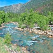 """A River Runs Through it"" - Pristine Fly fishing water in the mountains — Stock Photo"