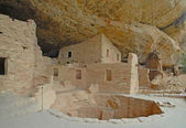 Anasazi Cliff Dwellings at Mesa Verde National Park, Colorado — Stock Photo