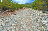 Dirt Road for 4x4 offroading in the mountains — Stock Photo
