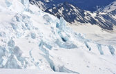 Crevasses on Mount Rainier, Cascade Mountains, Washington State, USA — Stock Photo