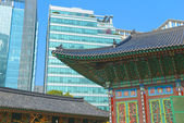 Traditional and Modern Architecture in Seoul, South Korea — Stock Photo