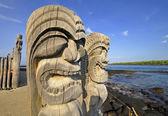 Ki'i Carving at Pu' uhonua O Honaunau — Stock Photo