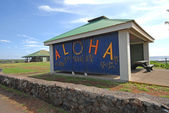 Welcome ALOHA Sign, Hawaii — Stockfoto