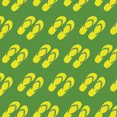 Chinelos amarelo sem costura padrão vector — Vetor de Stock