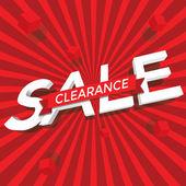 Sale clearance vector — Stock Vector