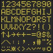 Digital Scoreboard Alphabet and Numbers — Vettoriale Stock