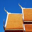 Wooden Thai style roof texture with sky — Stock Photo #50206241