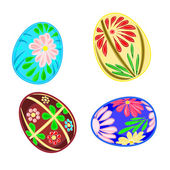 Easter eggs with floral pattern — Vector de stock