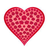 Heart of roses — Vetorial Stock