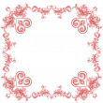 Heart ornaments decorative frame — Stock Vector #43813141