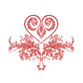 Heart of the ornament — Stock Vector