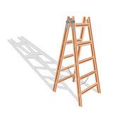 Brown wooden ladder — Stock Vector