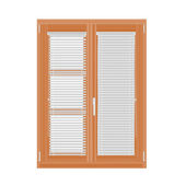 Window and blinds vector — Vecteur