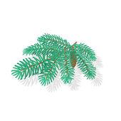 Silver Spruce Christmas tree vector illustration — Stock Vector