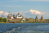 Solovetsky Monastery. View from the White sea — Stock Photo