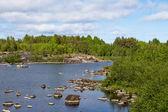 Northern lake. Republic of Karelia. Russia — Stock Photo
