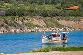 Malé rybářské lodi — Stock fotografie