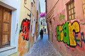 De oude stad en graffiti. Griekenland. Kreta. Chania — Stockfoto