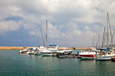 Private yachts in the Old Harbour. Greece. Crete. Chania — Zdjęcie stockowe