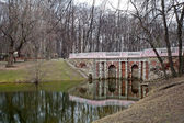Lefortovo Park. Views of grotto Rastrelli. Moscow. Russia — Foto Stock