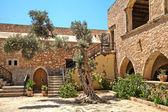 Klášter Arkadi (moni arkadiou). Kréta. Řecko — Stock fotografie