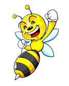 Bumblebee Mascot — ストックベクタ