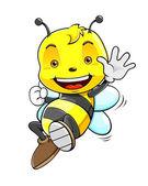 Smiling Honey Bee — ストックベクタ