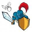 Knight with Shield and sword — Stock Vector #47419443