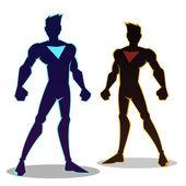 Super Hero Silhouettes — Stock Vector