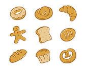 Bread Compilation — Stock Vector