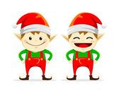 Christmas Elf Twin — Vetorial Stock