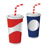 Soda Drink Cups — Vector de stock