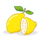 Fruta del limón — Vector de stock