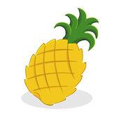 Fruta de piña — Vector de stock