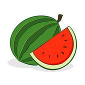 Vattenmelon frukt — Stockvektor