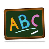 Blackboard with chalk alphabets — Stock Vector
