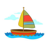 Colorful Sailboat — Stock Vector
